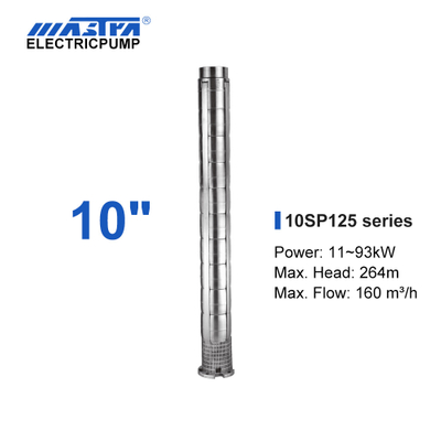 Mastra 10 inch stainless steel submersible pump - 10SP series 125 m³/h rated flow irrigation pump system