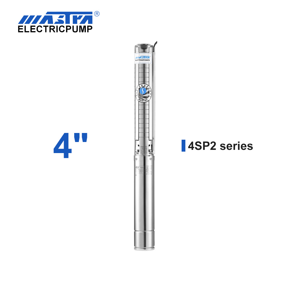 60Hz Mastra 4 inch stainless steel submersible pump - 4SP series 2 m³/h rated flow top rated submersible well pumps